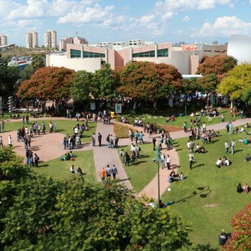 overhead view of campus